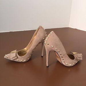 Gold Studded Nude heels